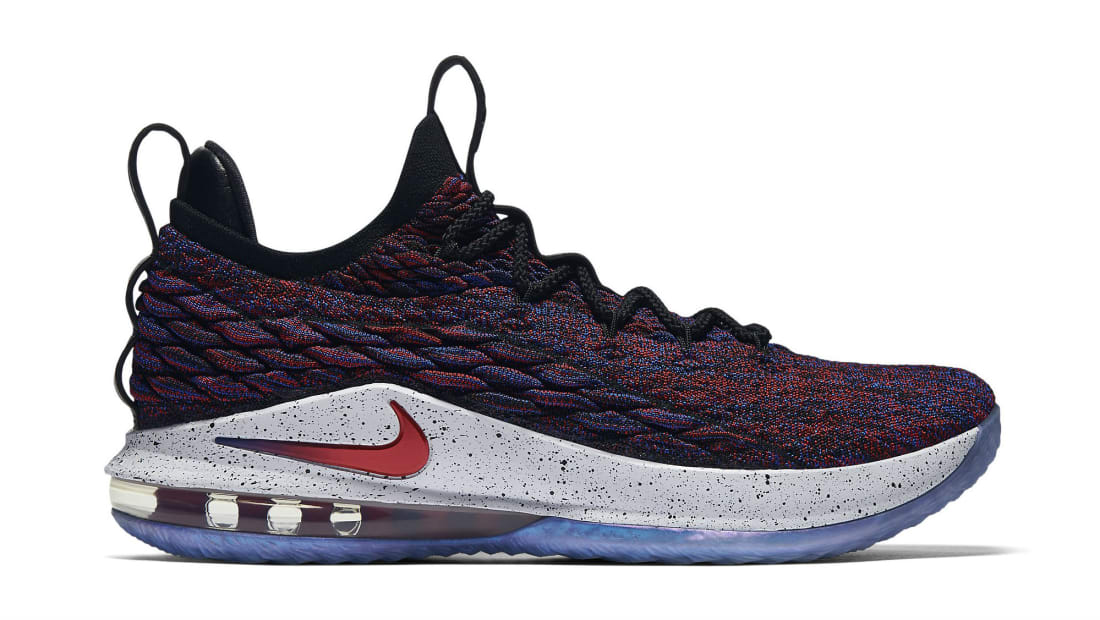 52daaaf45329 Nike · Nike LeBron · Nike LeBron 15 (XV) Low. Nike LeBron 15 Low Multicolor University  Red-Black-White