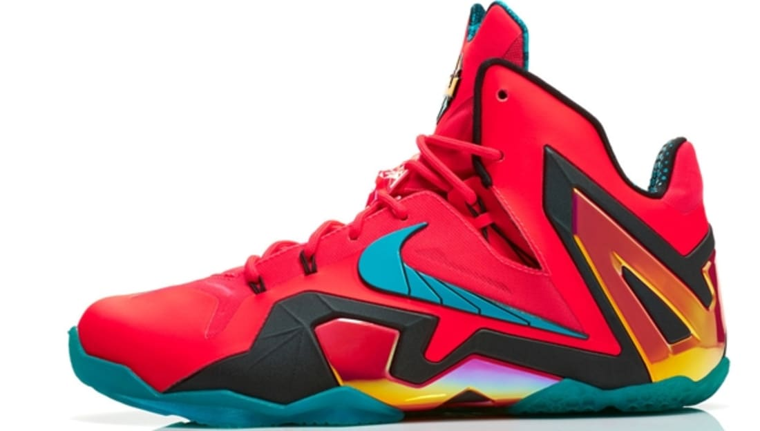 6c87e78c4c5 Nike LeBron 11 Elite Laser Crimson Black-Sport Turquoise