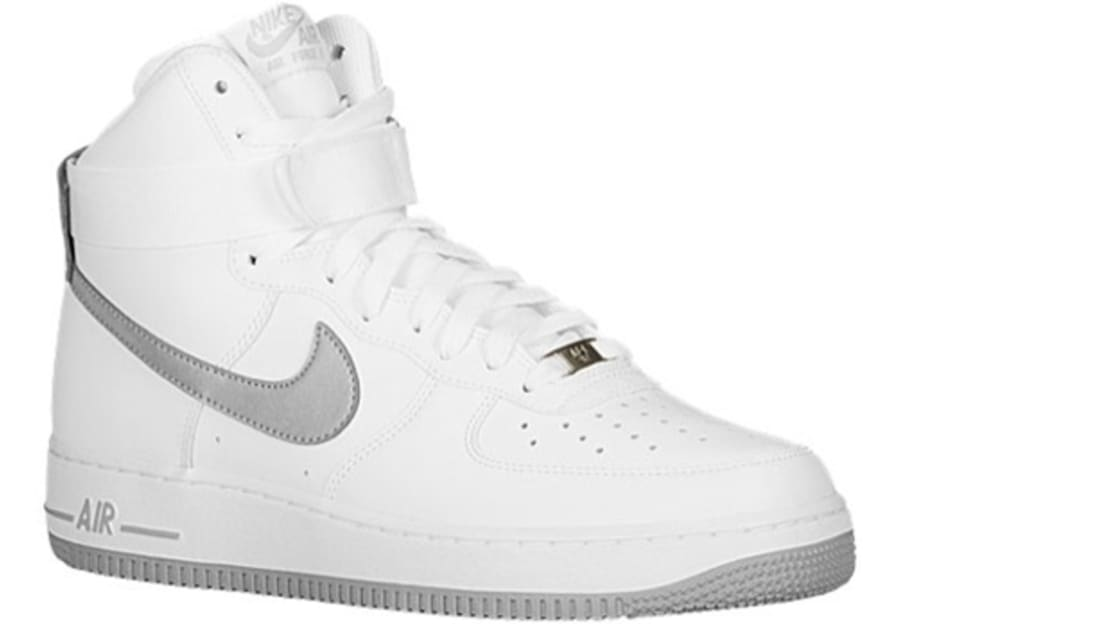 new concept e511c 37f9b Nike Air Force 1 High White Reflective Silver