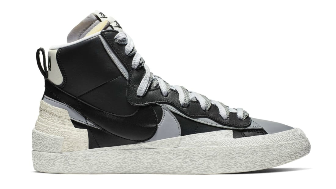 Sacai x Nike Blazer Mid Black/White-Wolf Grey-Black