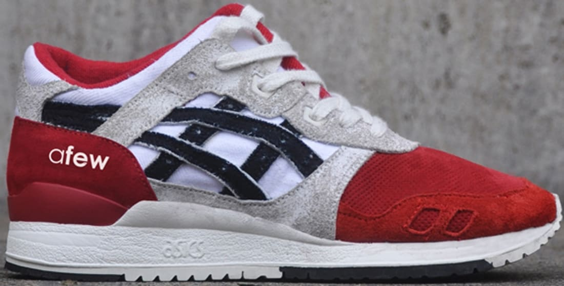 red and white asics