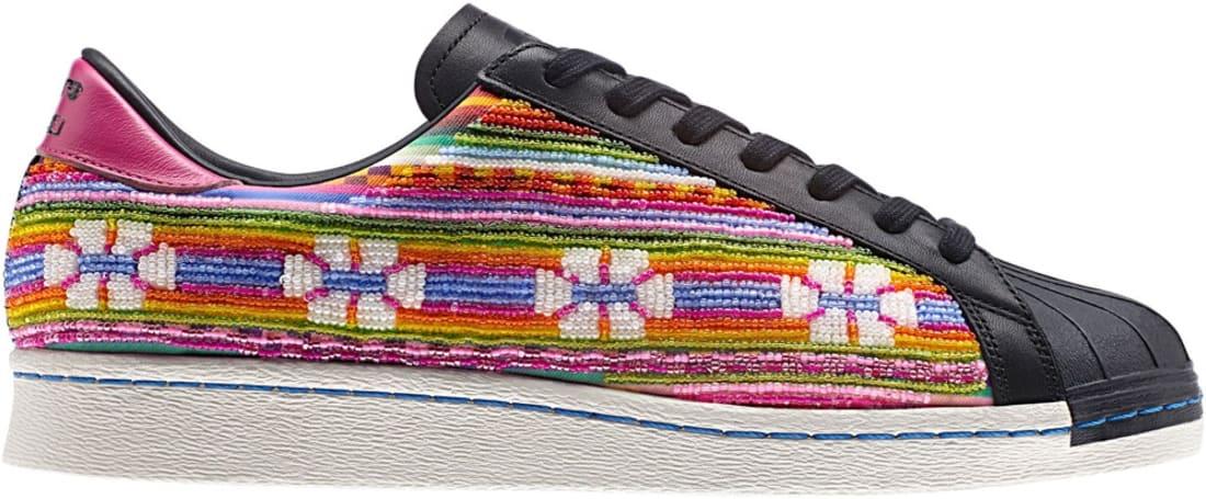 adidas Originals Superstar 80s Black/Multi-Color