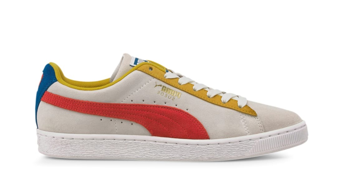 Puma Suede Classic Puma White-Super Lemon-High Risk Red