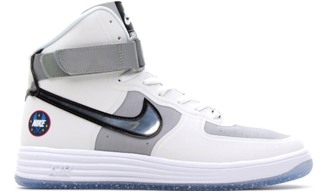 Nike Lunar Force 1 Hi QS White/Metallic Silver