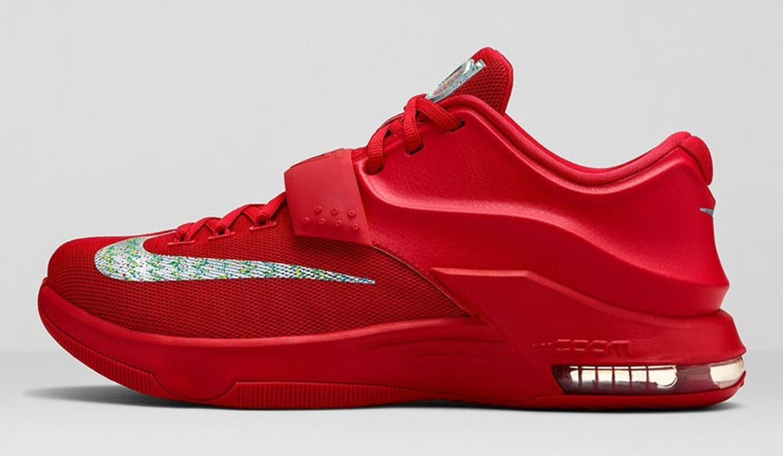 Nike KD VII Action Red/Metallic Silver