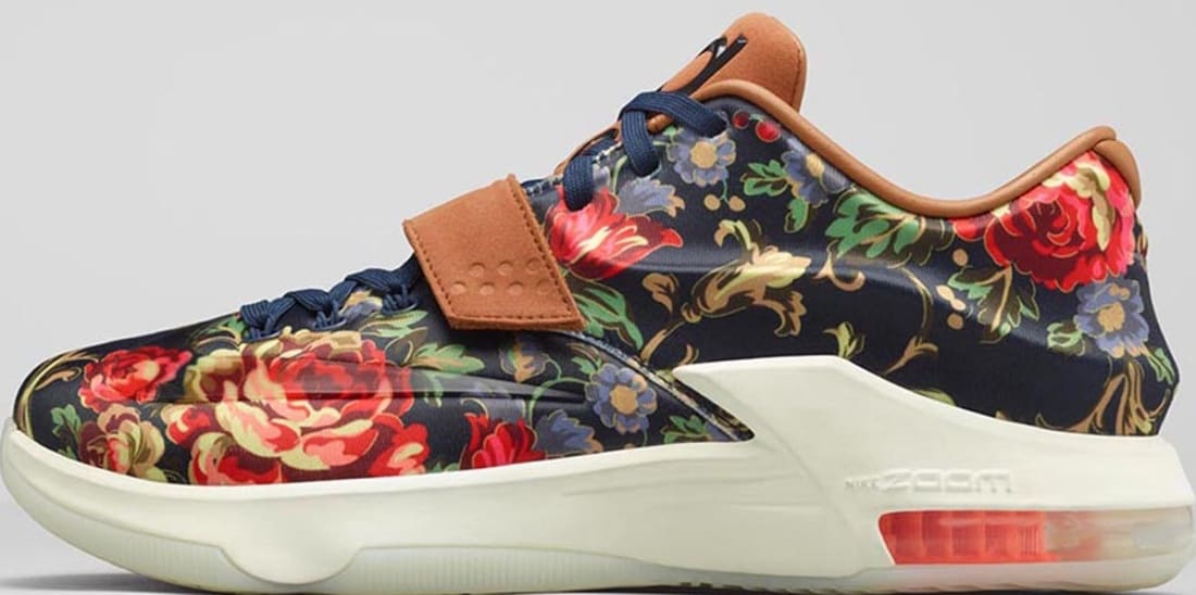 Nike KD VII EXT Floral QS Midnight Navy/Black-Hazelnut
