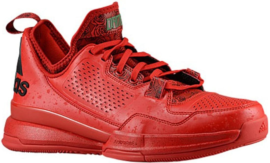 adidas D Lillard 1 Scarlet/Black-Bright Red