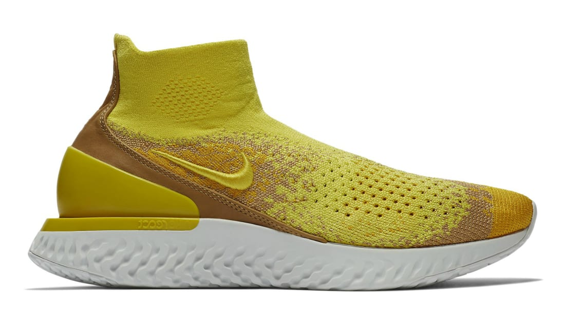 458ccc77e406 Nike Rise React Flyknit Sonic Yellow Dark Stucco