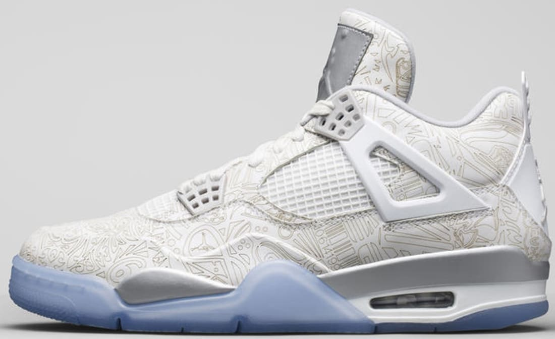 878a9874a848bf Air Jordan 4 Retro Laser White Chrome-Metallic Silver