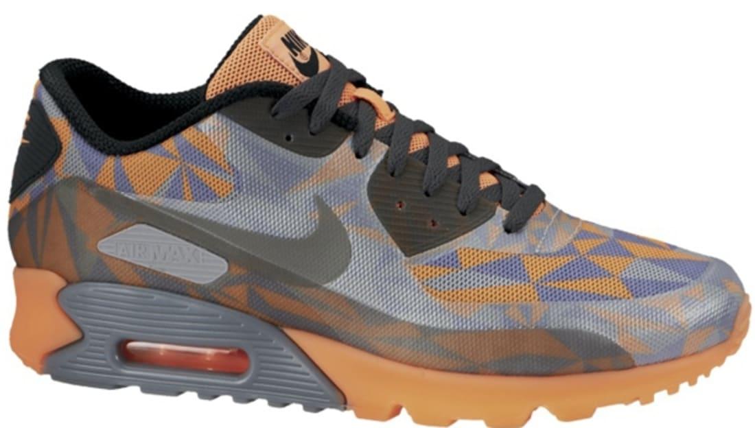 Nike Air Max '90 Ice Cool Grey/Black-Wolf Grey-Atomic Orange ...