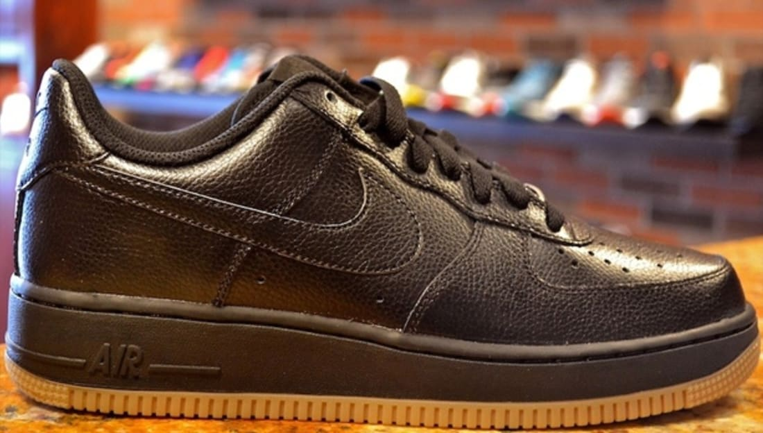 purchase cheap 399fa 341ed Nike Air Force 1 Low Black Black-Gum Medium Brown