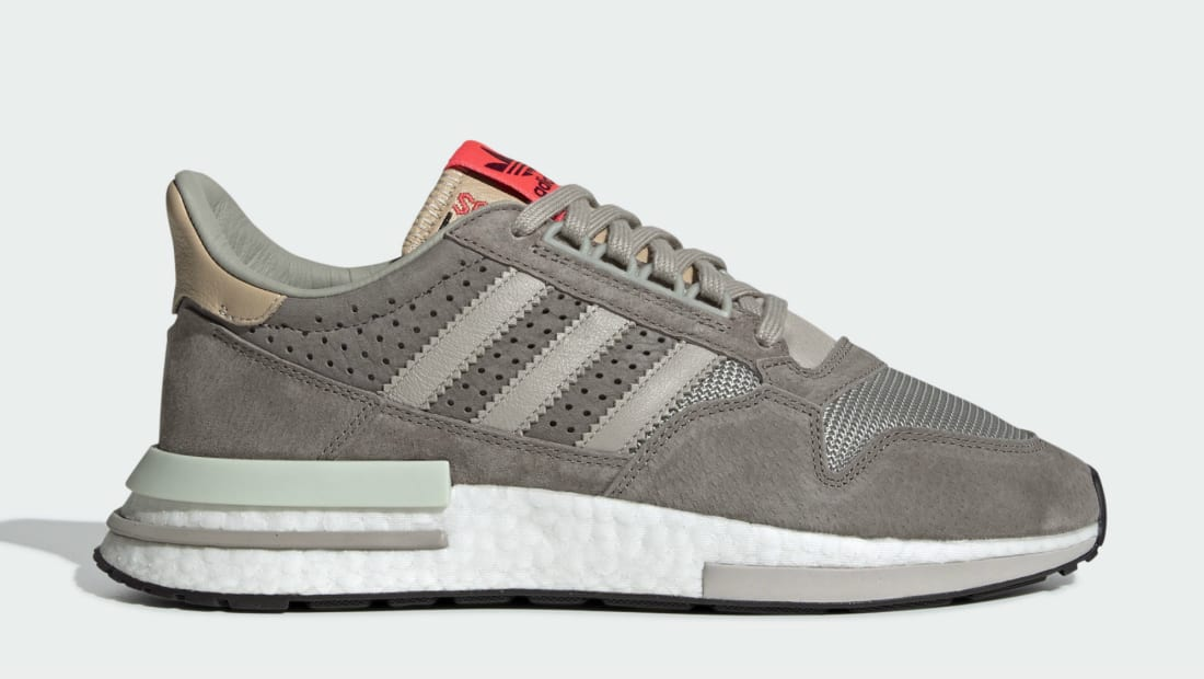 size 40 4e608 7a3f1 Adidas ZX500 RM Sand Brown Light Brown-Footwear White