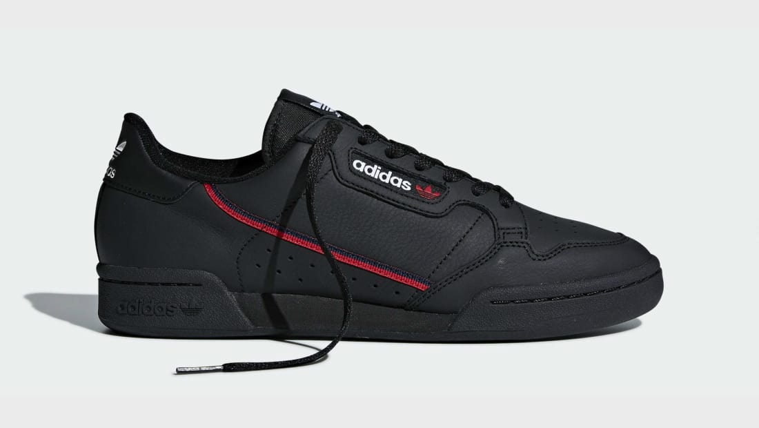 adidas Originals CONTINENTAL 80S - Trainers - core black/scarlet/collegiate navy
