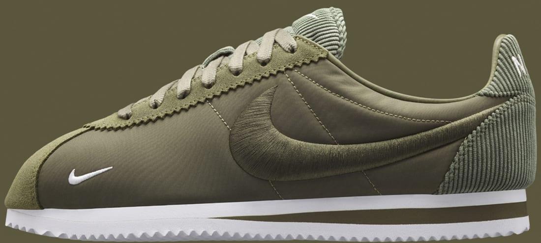 28aa40e017 NikeLab Cortez Textile Medium Olive | Nike | Sole Collector