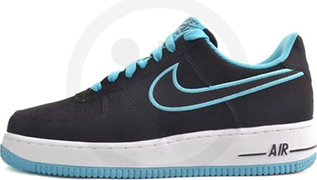 new styles 37707 cca0a Nike Air Force 1 Low Black Turquoise Blue