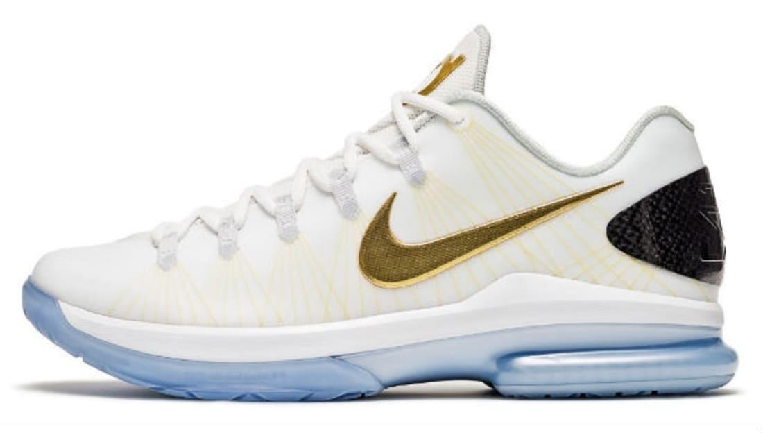 cheap for discount d0258 e4eae Nike KD 5 Elite+ White Metallic Gold