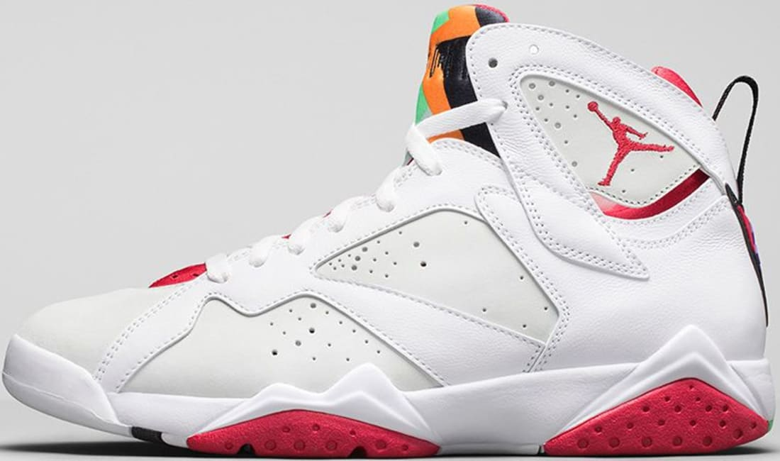 official photos fe536 b4433 Air Jordan 7 Retro White True Red-Light Silver-Tourmaline