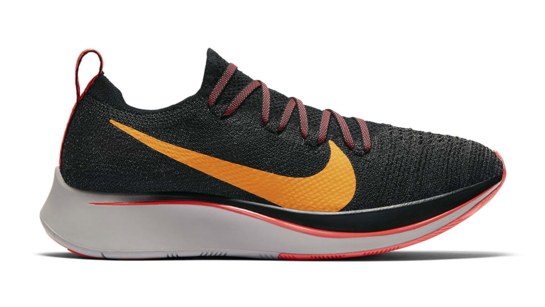 051e196775a5 Nike · Nike Running · Nike Zoom Fly. Nike Zoom Fly Flyknit Black Flash  Crimson-Orange Peel-Moon Particle