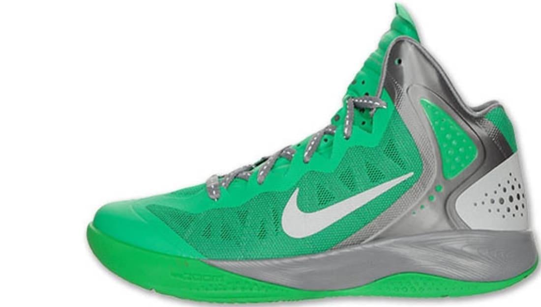 914cf510d746f Nike · Nike Basketball · Nike Zoom Hyperenforcer. Nike Zoom Hyperenforcer  PE Lucky Green Metallic Silver-Cool Grey