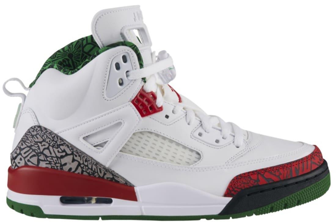 Jordan Spiz'ike White/Varsity Red-Cement Grey-Classic Green