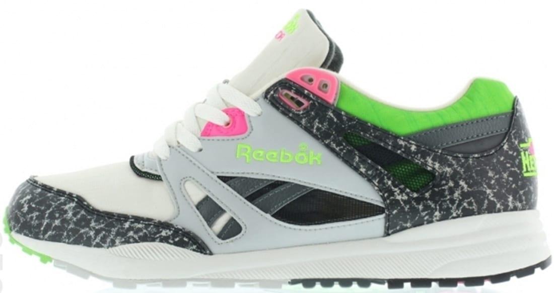 Reebok Ventilator OG Chalk Grey-Green-Pink  f39e0e98b