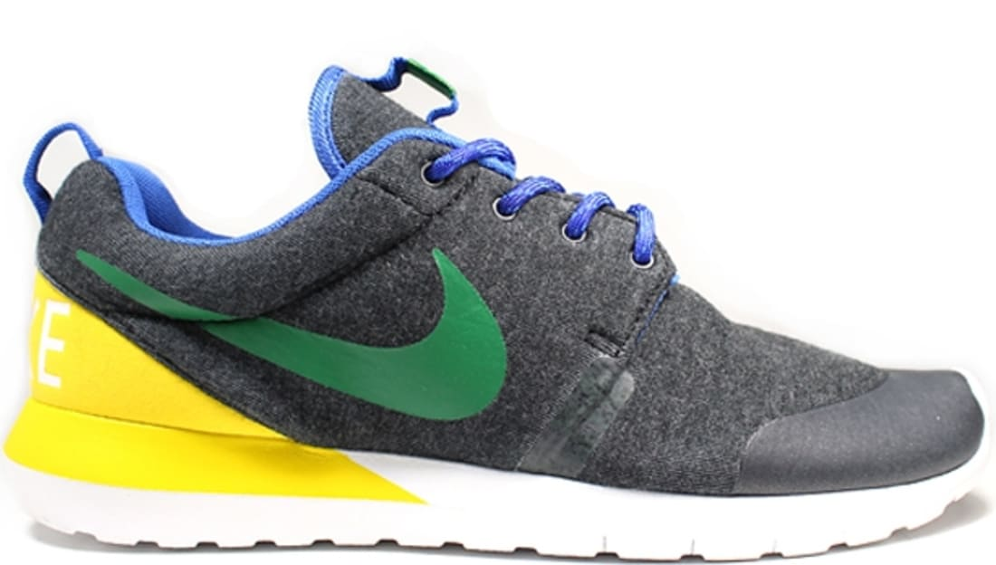 Nike Roshe Run MN W SP Black Heather/Pine Green-Tour Yellow