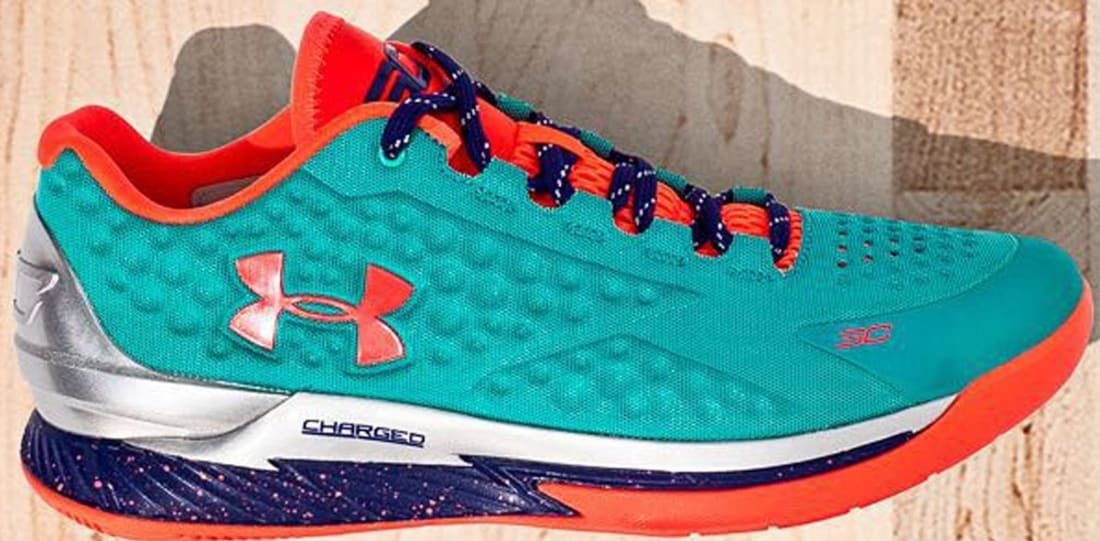 Under Armour Curry One Low Hyper Green/Purple-Blitz Orange