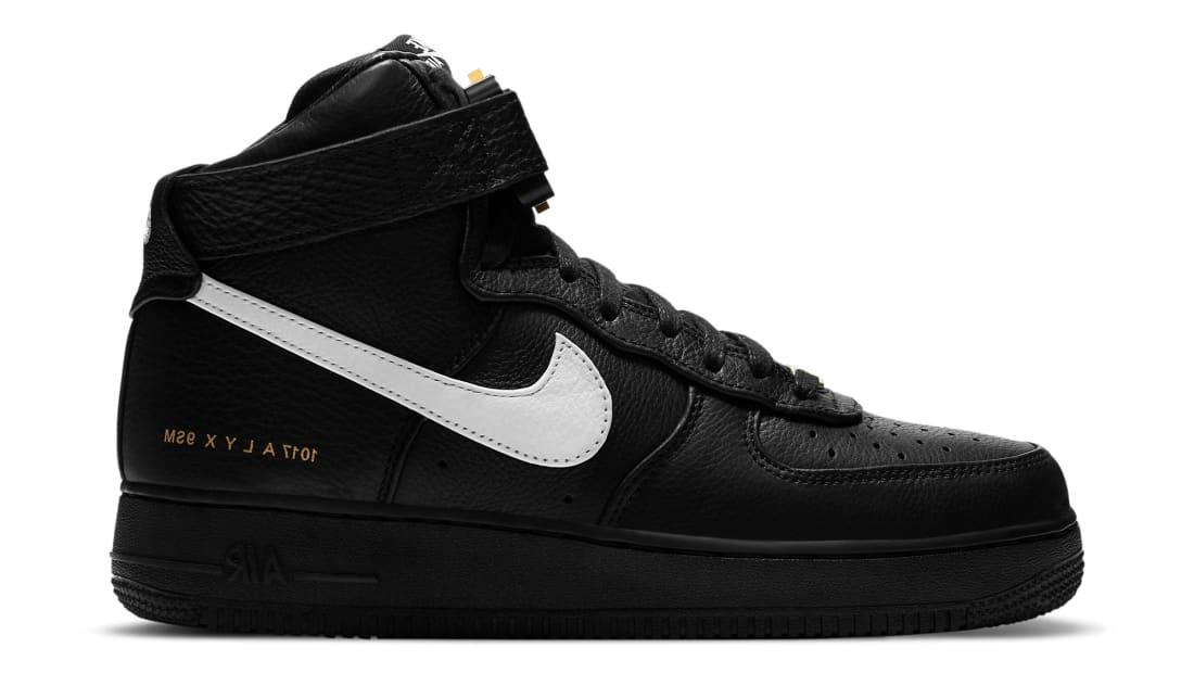Alyx x Nike Air Force 1 High Black/White-Metallic Gold