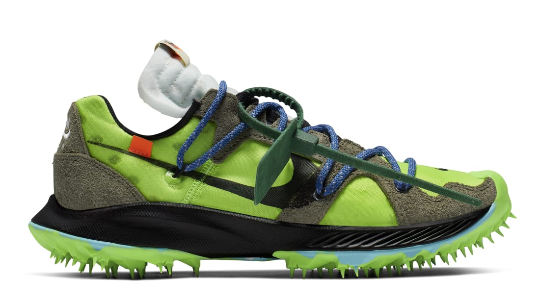 Off-White x Nike Zoom Terra Kiger 5 Electric Green/Metallic Silver-Sail