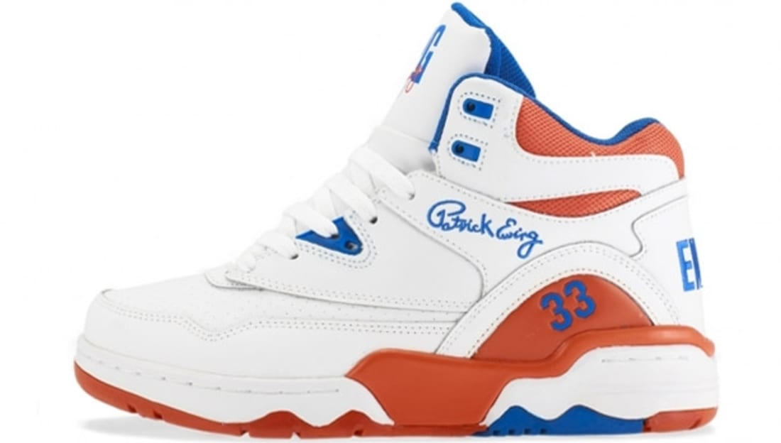 Ewing Athletics Ewing Guard White/Prince Blue-Vibrant Orange