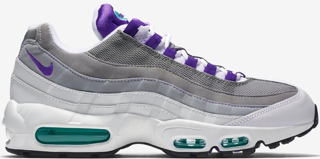 41c5b83b892033 Nike Air Max  95 OG White Court Purple-Emerald Green-Wolf Grey ...