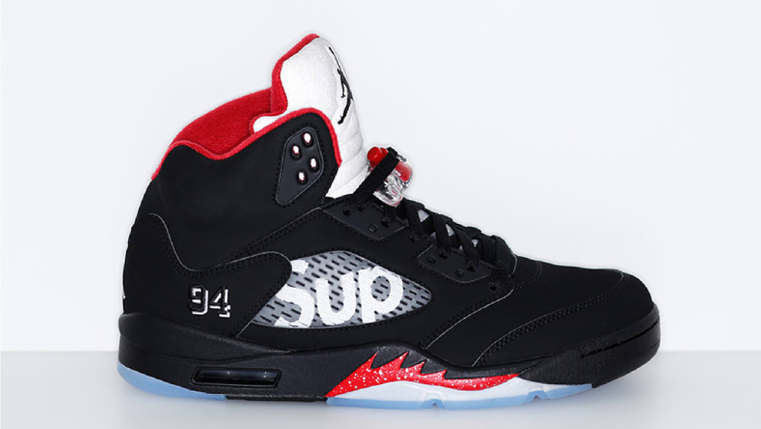Supreme x Air Jordan 5 Retro Black/Fire Red