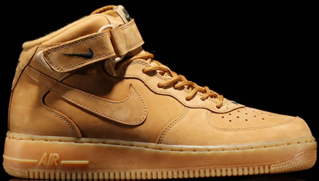 big sale 64529 38666 Nike Air Force 1 Mid Flax/Flax-Outdoor Green | Nike | Sole ...