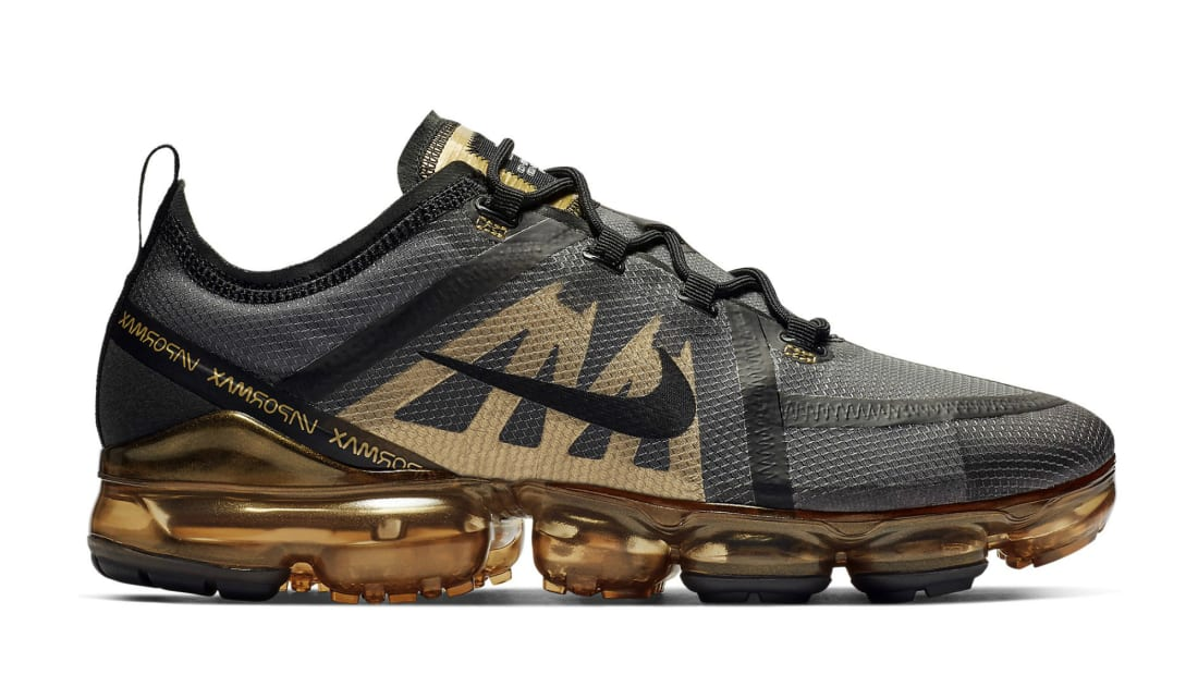 Nike Air VaporMax 2019 Black/Black-Metallic Gold