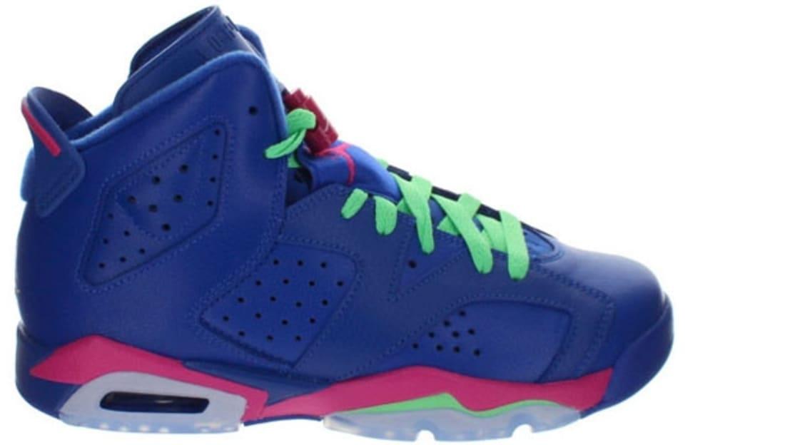 wholesale dealer 5bda6 11e37 Air Jordan 6 Retro Girls Game Royal White-Vivid Pink-Light Lucid Green