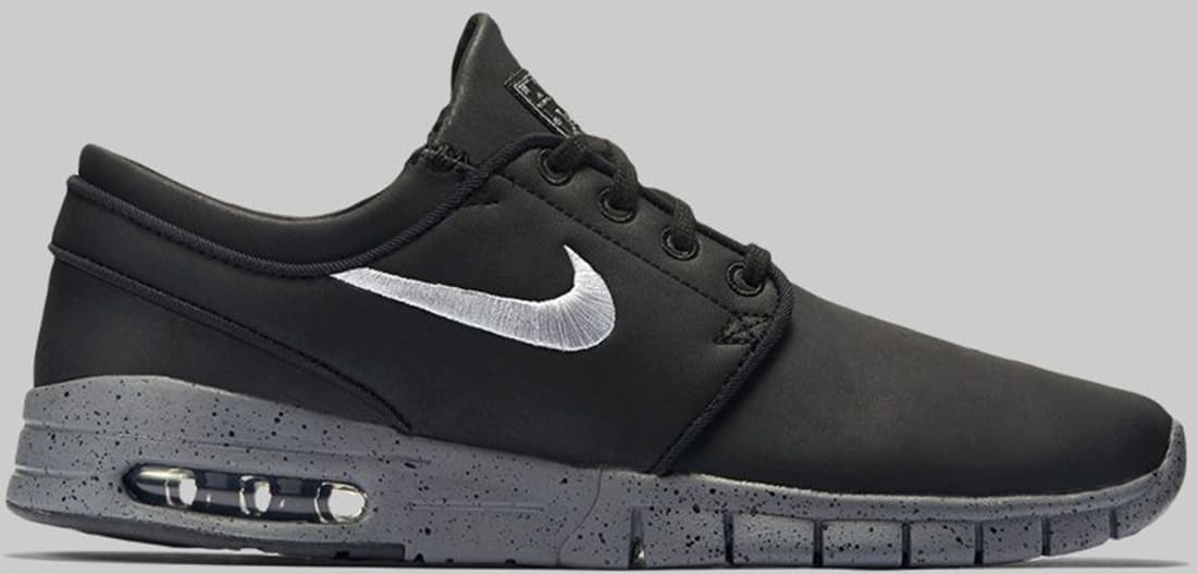 best website 61a8f c39d9 Nike Stefan Janoski Max L SB Black Cool Grey-Metallic Cool Grey