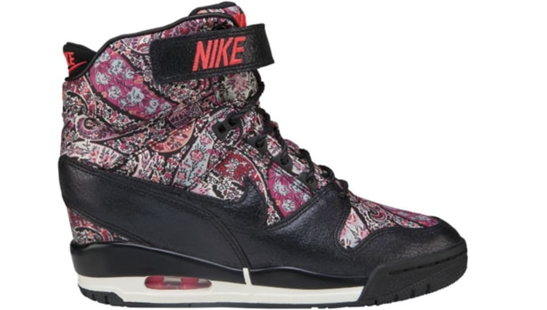 Nike Womens Air Revolution Sky Hi Liberty QS Black Solar Red (632181-006)