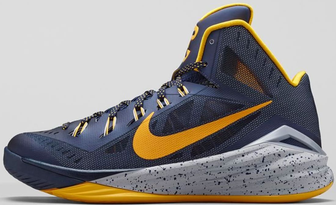 48bc014fe1bd Nike Hyperdunk 2014 PE Midnight Navy University Gold-Cement Grey ...
