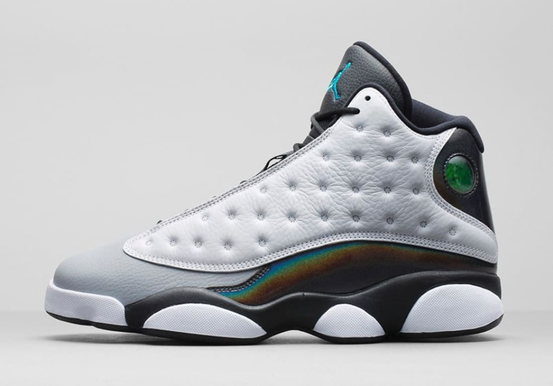 best service 16397 89e91 Air Jordan 13 Retro White/Tropical Teal-Black-Wolf Grey ...