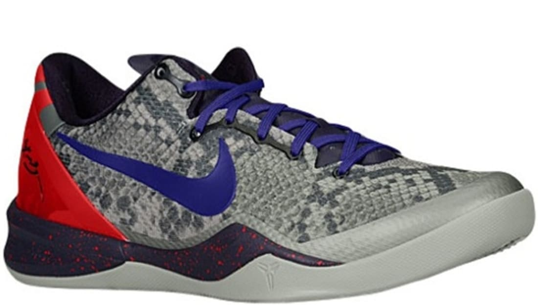 huge selection of bae6b b043f Nike Kobe 8 System Mine Grey Black-Court Purple-University Red