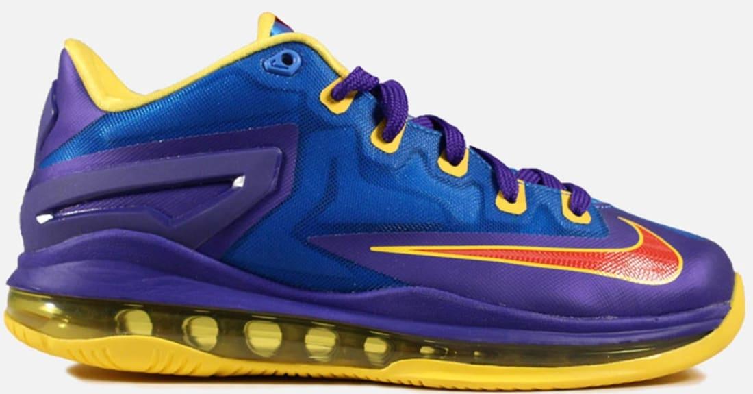 9e808bbf6b5f0 Nike LeBron 11 Low GS Light Photo Blue Challenge Red-Dark Concord ...