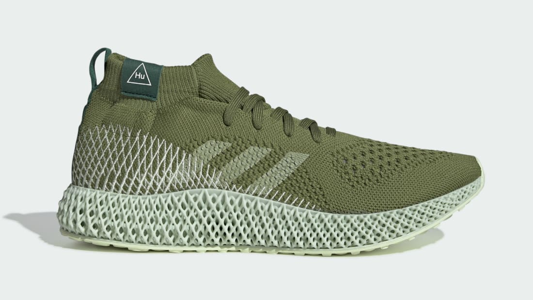 Pharrell x Adidas 4D Runner Mid Tech Olive/Running White-Collegiate Green