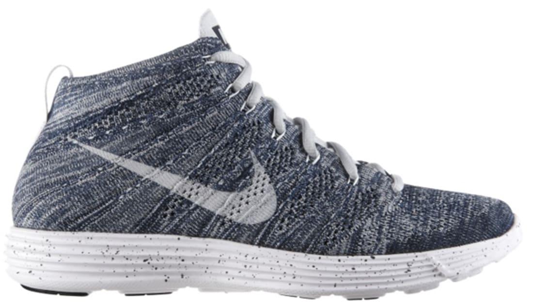 3a5b7c3bd724 Nike · Nike Sportswear · Nike Lunar Flyknit Chukka. Nike Lunar Flyknit  Chukka Squadron Blue Pure Platinum-Obsidian-White