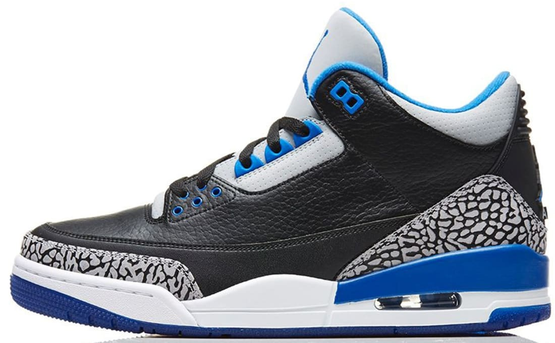 a8ba5f1c3c8a Air Jordan 3 Retro Black Sport Blue-Wolf Grey