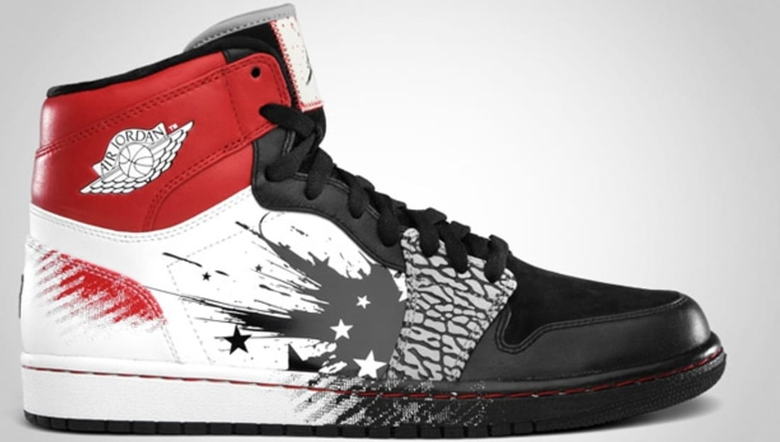 Dave White x Air Jordan 1 Retro High DW Black/Sport Red-White