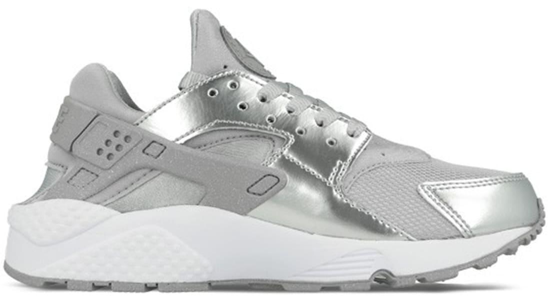 new product 10c48 e9ecd Nike Air Huarache Premium Women s Metallic Silver Metallic Silver-White