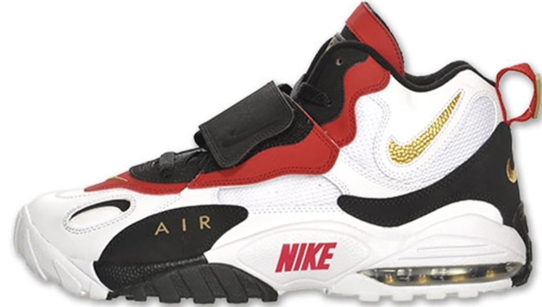 low priced 90575 73feb Nike Air Max Speed Turf White Metallic Gold-Gym Red-Black