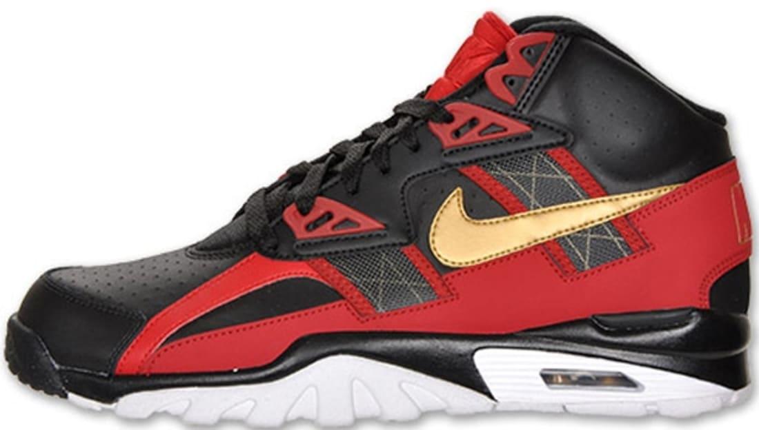 Nike Air Trainer SC High Black/Metallic Gold-Gym Red-White