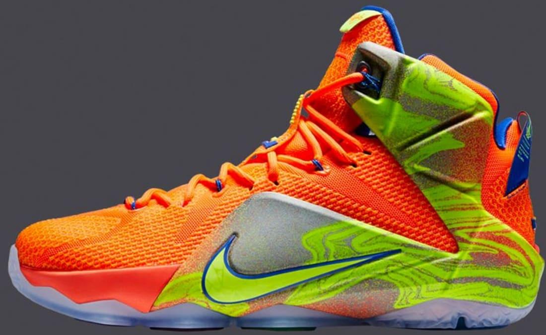 low priced 5a4e4 a4b31 Nike LeBron 12 Hyper Crimson Volt-Metallic Cool Grey-Hyper Cobalt