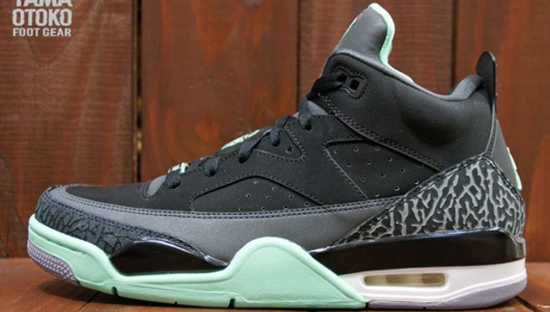 new arrival 81185 1f400 Jordan Son Of Mars Low Black Green Glow-Anthracite-Cement Grey ...